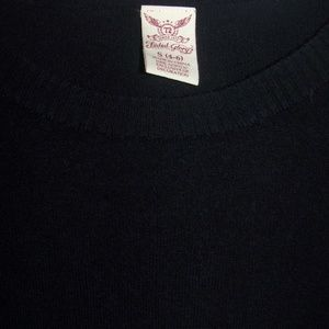 WOMENS FLOWER SWEATER SMALL 4/6 BLACK